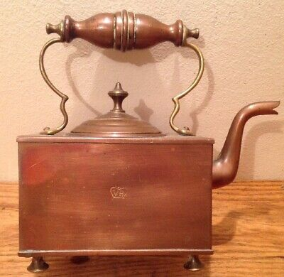 ANTIQUE ENGLISH VICORIAN COPPER TEAPOT-KETTLE IN ORIGINAL CONDITION c1850