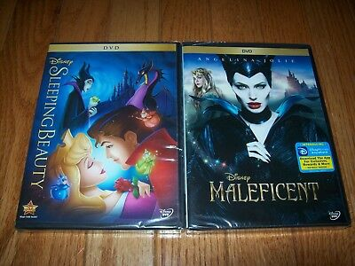 Brand New Sealed. Walt Disney's Sleeping Beauty and Maleficent on DVD. Authentic