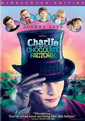 Charlie and the Chocolate Factory (DVD, 2005, Widescreen) - Acceptable