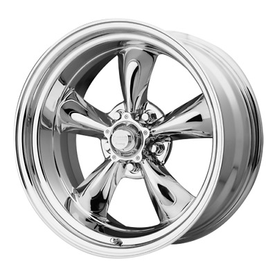 17 inch Staggered 17x7 17x8 CHROME Classic Rims Wheels Chevy Bel Air 1956-1970