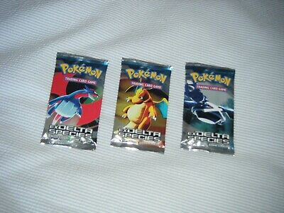 WOTC Pokemon Ex Delta Species, 3 booster packs, new, sealed