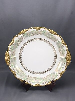 """Jean Pouyat JPL Limoges France Floral & Gold Charger For J Wanamaker PA/NY 14"""""""