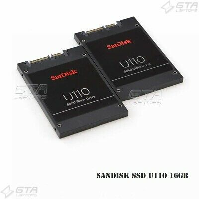"Lot of 2 SanDisk 2.5"" SSD U110 16GB SATA 6.0Gbps HP 724416-001"