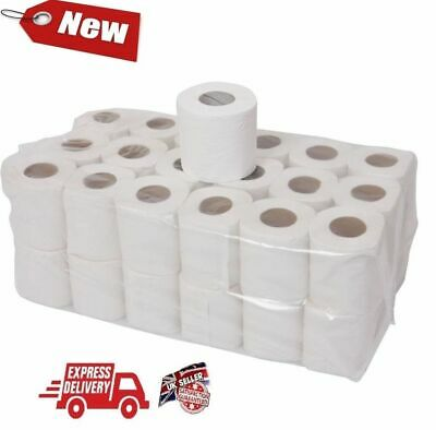 144 ROLLS TOILET TISSUE  JUMBO Active 4 CASES OF 36 ROLL PURE WHITE 2 PLY
