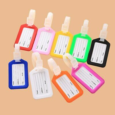 Travel Luggage Bag Tag Name Address ID Label Plastic Suitcase Baggage Tags Hot