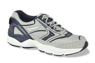 2a588a64ed7 Aetrex Apex Shoes Silver Blue Runner Mens Size 15 X532MM15 inserts missing