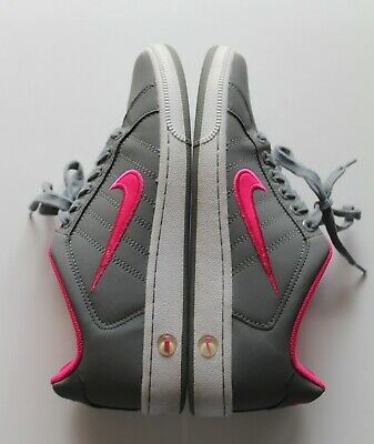 298fa90f4075db Nike Women s Court Tradition II Leather Pink and Gray Shoes 635425-060 Size  8.5