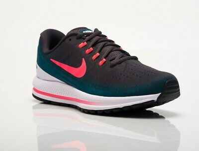 best service 8e3cb 909d1 Nike Air Zoom VOMERO 13 UK8 Green Grey Hot Punch 922908 008 Gym running  trainers