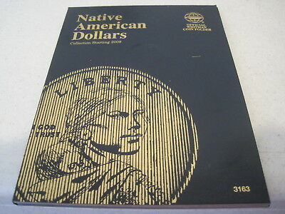 2009-2019 P D Uncirculated  Native American Dollar Set in Whitman Folder 3163