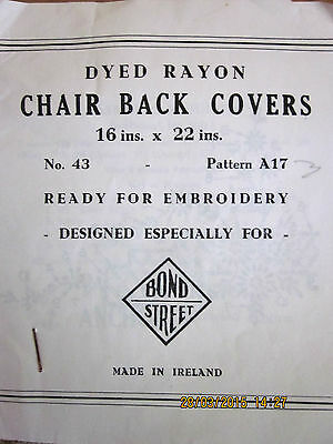~Vintage Bond Street Pair Chair Back Covers - New - Ready To Embroider - Ireland