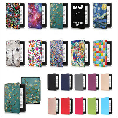 For New Kindle Paperwhite 4 2018 Smart Thin Flip Leather Sleep Awake Case Cover