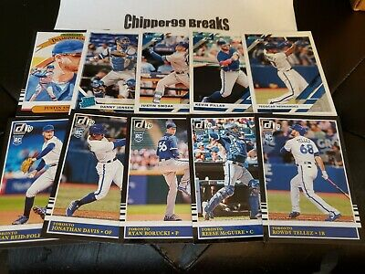 Toronto Blue Jays 2019 Donruss 10 Card Team Set Jansen, Tellez, Borucki SRF RC!