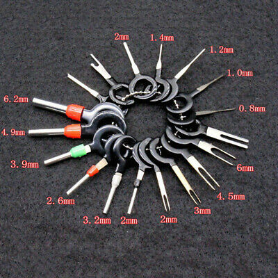 18x Car Wire Terminal Removal Tool Kit Wiring Connector Pins Extractor Puller