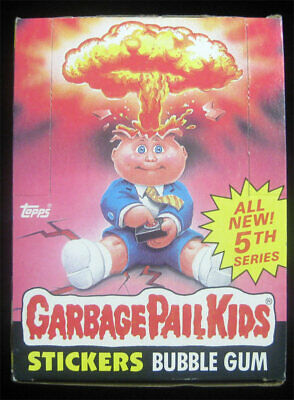 Garbage Pail Kids 5th Series Full Box 48 Sealed Wax Packs S 5 - RARE Case Find!