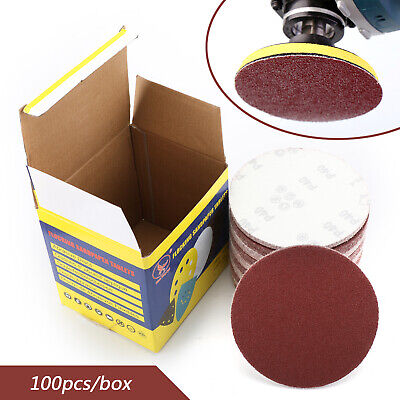 100PCS 6 Inch DA Hook and Loop Sandpaper Sanding Discs Sand Sheet 40-2000 Grit/M