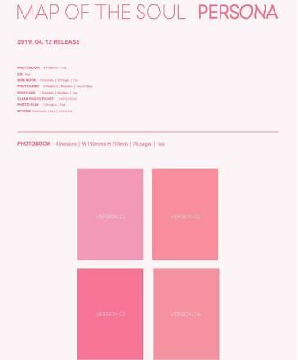 BTS - [Map of the Soul : Persona] Album Full Ver. CD+POSTER+PHOTOBOOK+CARD+ETC