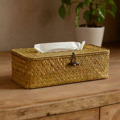 Bathroom Accessory Tissue Box, Algae Rattan Manual Woven Toilet Living Room Crea