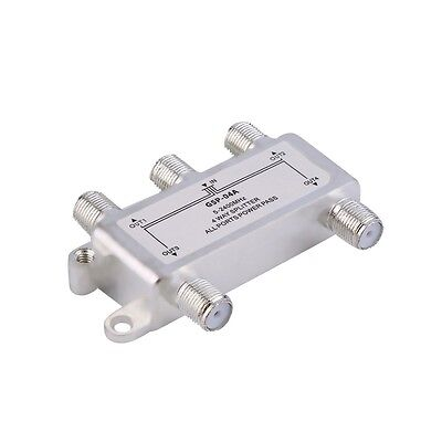 4 Way Satellite/Antenna/Cable TV Splitter Distributor 5-2400MHz F Type KL