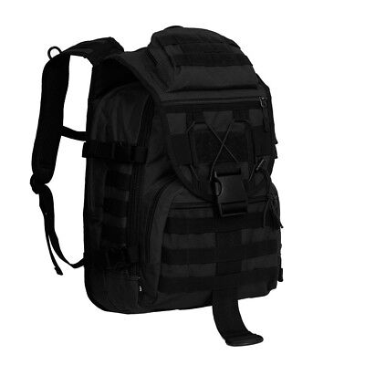 40L Tactical Daypack MOLLE Assault Backpack Pack Military Gear Rucksack Large BK