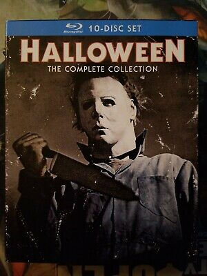 Halloween Blu Ray Box Set.Halloween The Complete Collection Blu Ray 10 Disc Box Set