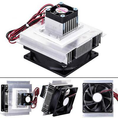 Thermoelectric Peltier Refrigeration Cooling System Kit Cooler Fan DIY TEC-12706