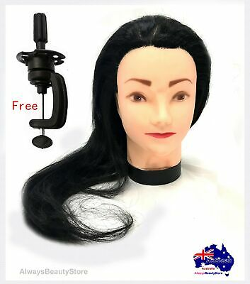 Mannequin Head Hair Styling Hairdresser Training Head Mannequin Doll + Clamp