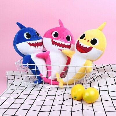 Baby Kids Plush Shark Singing English Song Toy Cartoon Music Doll Musical Toy