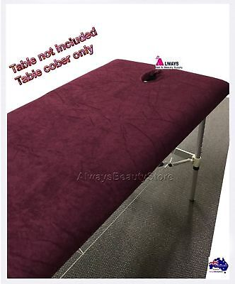 Massage Table Cover Toweling Beauty Bed Cover Maroon Aussie Seller
