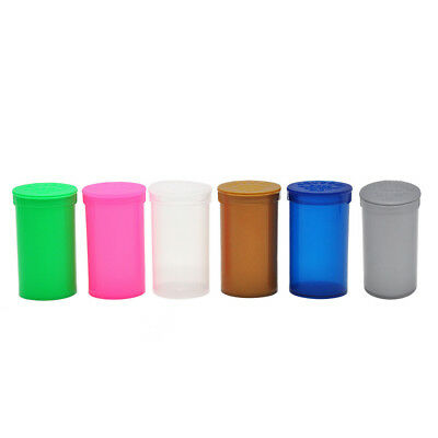 3 X Dram Squeeze Pop Top Bottle- Vial Medical Herb Pill Box Containers Tobacco