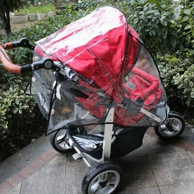 Universal Buggy Pushchair Stroller Pram Clear Transparent Rain Cover Shield Baby