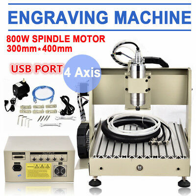 USB 3/4 Axis CNC 3040/6040/6090 Router 1.5KW Engraving Machine 3D Cutter 1500W