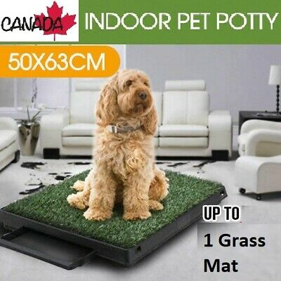 Indoor Puppy Potty Trainer Indoor Training Toilet Pet Dog Grass Pad Mat Large
