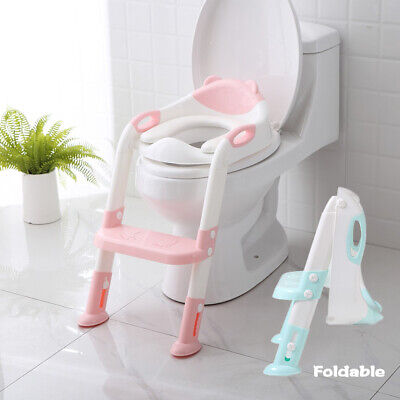 Kids Toilet Seat Ladder Baby Toddler Potty Training Step Non Slip Safety Tools