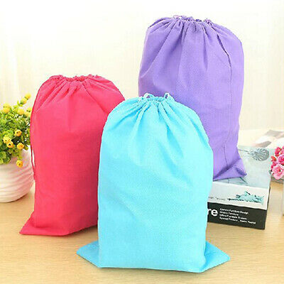 Laundry Shoe Home Travel Pouch Portable Tote Drawstring Storage Bag Organizer