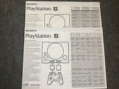 Sony Playstion 1 Instruction Manual SCPH- 5552