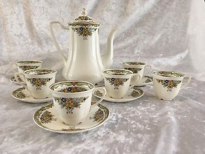 Old Staffordshire Johnson Bros Coffee Set - 1930s