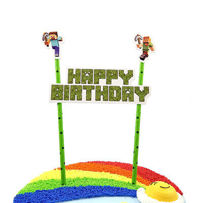 Happy Birthday Cake Topper Unique Bunting Banner Cupcake Party Decoration UK
