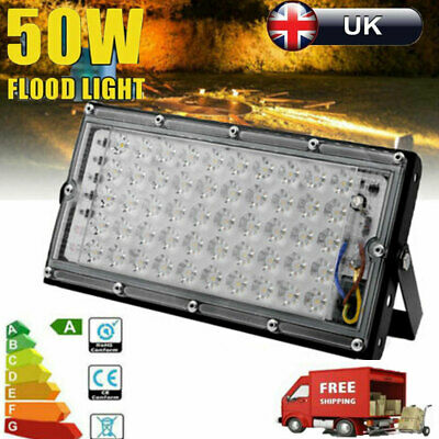 4X 50W Waterproof LED Work Flood Light Floodlight Indoor Outdoor Cool White Lamp