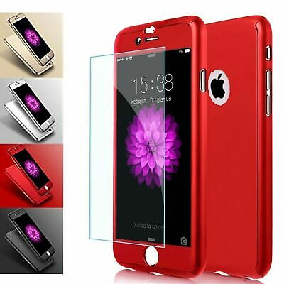 Case For iPhone 6S & 6 Hybrid Hard Front Back Shockproof Heavy Duty 360 Cover