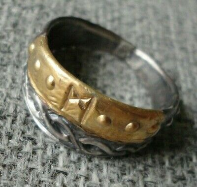 Rare Unique Stunning Ancient Gold Silver Viking Ring C 8th / 11th.cent AD. Fine
