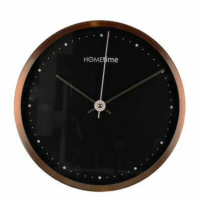 Hometime Aluminium Wall Clock Copper Fin 25 cms - W7325C