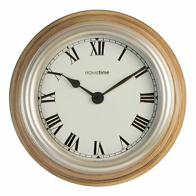 Hometime Deep Case Wall Clock Arabic Dial - Brown 38cm - W7561BR