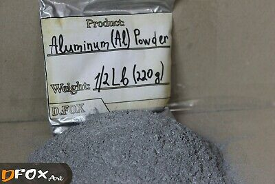 220g (1/2 Lb) Aluminium Aluminum Metal Powder Top Quality Laboratory - Al 99.8%