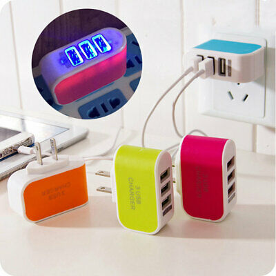 NEW Triple USB Port Wall Home Travel AC Power Charger Adapter 3.1A AU Plug MT