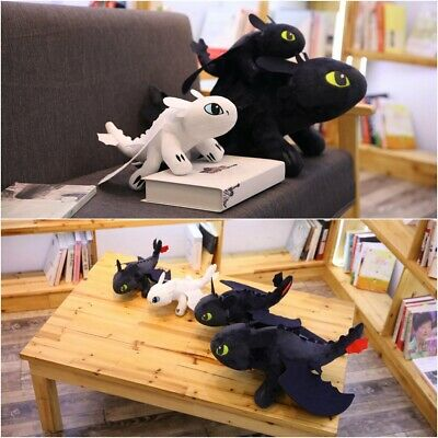 How to Train Your Dragon 3 Toothless Night Fury Light Fury Plush Toy Doll Gifts