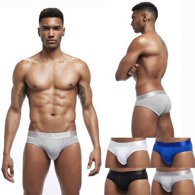 Sexy Mens Cotton Slip Panties Brief JOCKMAIL Soft Male Underwear Breathable