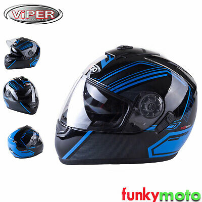 3Go E5V Gt Blue Full Face Motorcycle Racing Crash Helmet Ece Acu Homologated