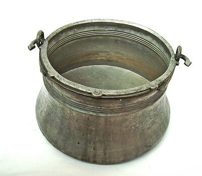 Vintage antique copper cauldron Boiler Ottoman Turkish hand hammered Farm tool