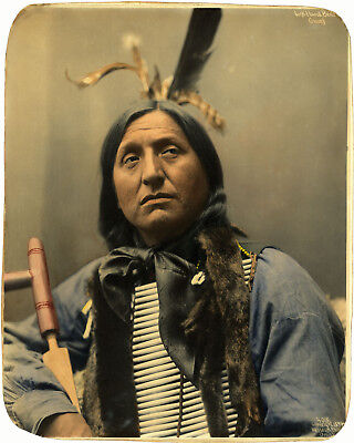 Blackfoot Indian Chief Thundercloud Poster Native American