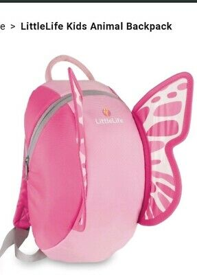 LittleLife Pink Butterfly Toddler Backpack